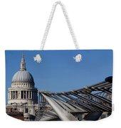 St Pauls Cathedral And The Millenium Bridge  Weekender Tote Bag