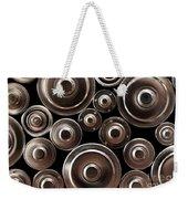 Stack Of Batteries Weekender Tote Bag by Carlos Caetano