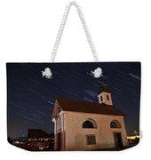 Star Trails Behind Vodice Chapel Weekender Tote Bag