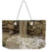 Storm Sewer Water Rushes Into A Stream Weekender Tote Bag