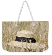 Straw Hat Weekender Tote Bag