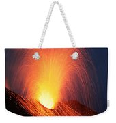 Strombolian Eruption Of Stromboli Weekender Tote Bag