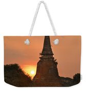 Stupa Chedi Of A Wat In Ayutthaya Thailand Weekender Tote Bag