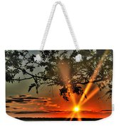 Summers Breeze Sunsets Through Tress Weekender Tote Bag