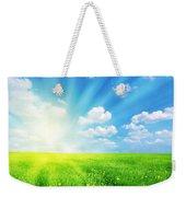 Sunny Spring Landscape Weekender Tote Bag