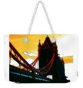 Sunset At Tower Brigde  Weekender Tote Bag