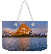 Swiftcurrent Lake Panorama Weekender Tote Bag