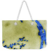 Tem Of Influenza Virus Weekender Tote Bag by Science Source