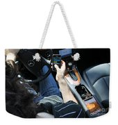 Texting And Driving Weekender Tote Bag