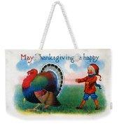 Thanksgiving Card, 1900 Weekender Tote Bag