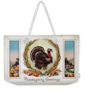 Thanksgiving Card, 1910 Weekender Tote Bag