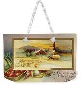 Thanksgiving Card, C1910 Weekender Tote Bag