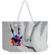 The Black Hand In Negative Weekender Tote Bag
