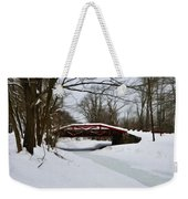 The Delaware Canal At Washington's Crossing Weekender Tote Bag by Bill Cannon