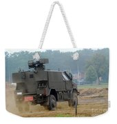 The Dingo 2 In Use By The Belgian Army Weekender Tote Bag by Luc De Jaeger