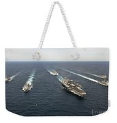 The Enterprise Carrier Strike Group Weekender Tote Bag by Stocktrek Images
