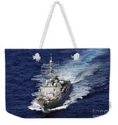 The Guided Missile Destroyer Uss Nitze Weekender Tote Bag