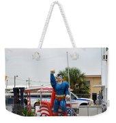 The Man Of Steel On I 95 Weekender Tote Bag