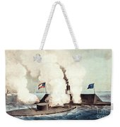 The Monitor And The Merrimac, 1862 Weekender Tote Bag