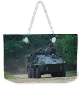 The Pandur Recce Vehicle In Use Weekender Tote Bag