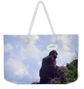 The Praying Monk With Halo - Camelback Mountain Weekender Tote Bag