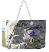 The Purple Heart Award Hangs Weekender Tote Bag
