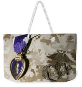 The Purple Heart Award Weekender Tote Bag by Stocktrek Images
