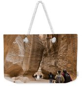The Slot Canyons Leading Into Petra Weekender Tote Bag