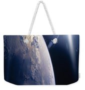 The Sun Shining On Planet Earth Weekender Tote Bag