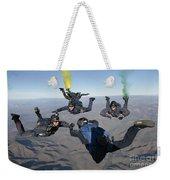 The U.s. Navy Parachute Demonstration Weekender Tote Bag