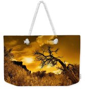 The Weight Of The Clouds In Sepia Weekender Tote Bag
