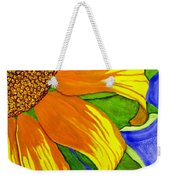 This Is No Subdued Sunflower Weekender Tote Bag