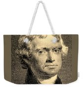Thomas Jefferson In Sepia Weekender Tote Bag