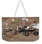 Three Generations Of Mars Rovers Weekender Tote Bag