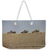 Three M-atvs Guard The Top Of The Wadi Weekender Tote Bag