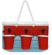 Three Red Buckets Weekender Tote Bag