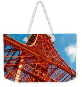 Tokyo Tower Face Cloudy Sky Weekender Tote Bag by Ulrich Schade
