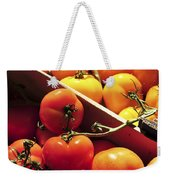 Tomatoes On The Market Weekender Tote Bag by Elena Elisseeva