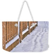 Tracks In The Snow Weekender Tote Bag