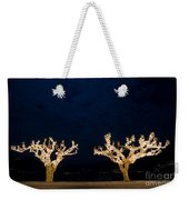 Trees With Lights Weekender Tote Bag
