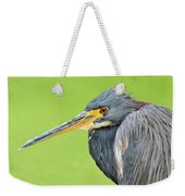 Tricolor Heron Portrait Weekender Tote Bag
