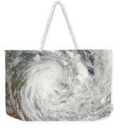 Tropical Cyclone Yasi Over Australia Weekender Tote Bag