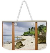 Tropical White Sand Beach Paradise Window Scenic View Weekender Tote Bag