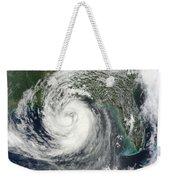 Tropical Storm Isaac Moving Weekender Tote Bag