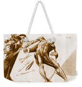 Two Gentlemen Contemplating A Cadaver Weekender Tote Bag by Science Source