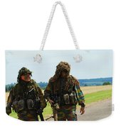 Two Snipers Of The Belgian Army Dressed Weekender Tote Bag by Luc De Jaeger