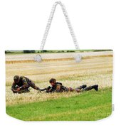 Two Soldiers Of The Belgian Army Weekender Tote Bag by Luc De Jaeger
