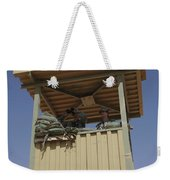 U.s. Air Force Airmen Provide Security Weekender Tote Bag