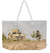 U.s. Army Sergeant Provides Security Weekender Tote Bag