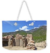U.s. Army Soldier And An Afghan Weekender Tote Bag